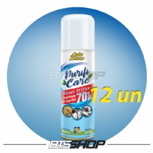 Álcool Spray 70 Purifi Care 300ml AutoShine - 12un
